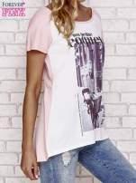 Różowy t-shirt z napisem MA PETITE COQUETTE                                   zdj.                                  3