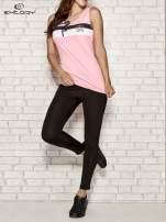 Różowy top sportowy z wiązaniem w stylu marynarskim                                  zdj.                                  2