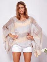 SCANDEZZA Beżowa zwiewna bluzka ombre                                  zdj.                                  1