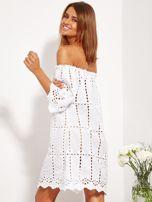 Biała sukienka hiszpanka z boho troczkiem i haftem                                  zdj.                                  8