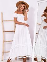 Biała sukienka maxi z asymetrycznym tyłem                                  zdj.                                  4