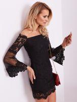 SCANDEZZA Czarna koronkowa sukienka                                  zdj.                                  7