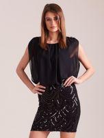 Czarna sukienka z cekinami                                  zdj.                                  2