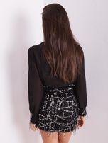 Czarna sukienka ze srebrnymi cekinami                                  zdj.                                  11