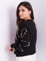 SCANDEZZA Czarny sweter z perełkami                                  zdj.                                  5