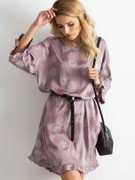 Sukienka we wzory fioletowa                                   zdj.                                  1