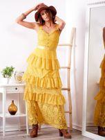 SCANDEZZA Żółta sukienka z falbanami                                  zdj.                                  5