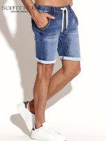 SCOTFREE Niebieskie jeansowe szorty męskie                                  zdj.                                  5