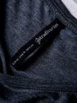 STRADIVARIUS Szara bluzka basic typu cropped                                                                          zdj.                                                                         3