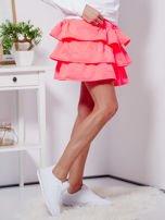 Spódnica fluo różowa dresowa z falbankami                                  zdj.                                  5