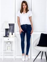 Spodnie ciemnoniebieskie slim fit                                  zdj.                                  4