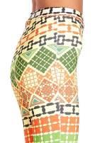 Spodnie dzwony we wzór geometryczny