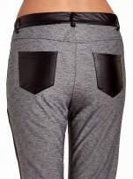 Spodnie two tone ze skórzanymi wstawkami