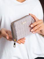 Srebrny portfel z pikowaniem                                  zdj.                                  3