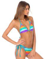 Strój kąpielowy bikini w kolorowe paski                                  zdj.                                  4