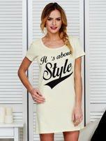 Sukienka bawełniana IT'S ABOUT STYLE jasnożółta                                  zdj.                                  1