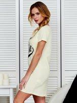 Sukienka bawełniana IT'S ABOUT STYLE jasnożółta                                  zdj.                                  5