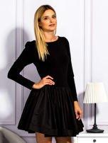 Sukienka damska z rozkloszowaną spódnicą czarna                                  zdj.                                  5