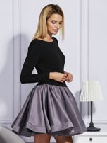 Sukienka damska z rozkloszowaną spódnicą szara                                  zdj.                                  5