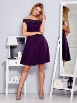 Sukienka fioletowa z perełkami                                  zdj.                                  4