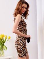 Sukienka granatowa w kolorowe wzory                                  zdj.                                  6