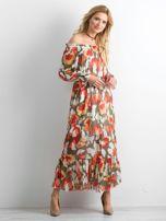 Sukienka hiszpanka we wzory                                  zdj.                                  3