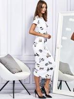 Sukienka maxi z nadrukiem skuterów biała                                  zdj.                                  3