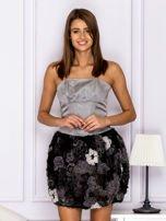 Sukienka z ozdobą spódnicą szara                                  zdj.                                  1