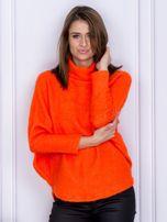 Sweter pomarańczowy z dłuższym włosem                                  zdj.                                  1