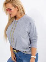 Szara bluza plus size Vacay                                  zdj.                                  3