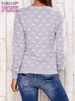 Szara bluza z motywem kokardek                                  zdj.                                  2
