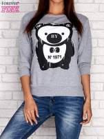 Szara bluza z nadrukiem pandy                                  zdj.                                  1