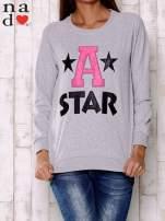 Szara bluza z napisem A STAR