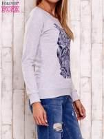 Szara bluza z sową                                                                          zdj.                                                                         3