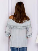 Szara bluzka hiszpanka z koronkową lamówką                                  zdj.                                  2