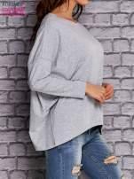 Szara bluzka z rękawem nietoperz                                  zdj.                                  3