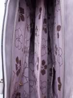 Szara fakturowana torba z odpinanym paskiem