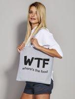 Szara materiałowa torba WTF                                  zdj.                                  3