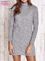 Szara melanżowa sukienka z golfem                                  zdj.                                  1