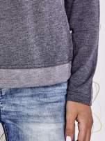 Szara modułowa bluzka z długim rękawem