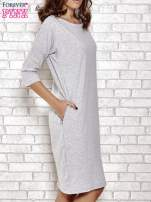 Szara prosta sukienka dresowa