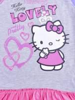 Szara sukienka dla dziewczynki HELLO KITTY                                  zdj.                                  4