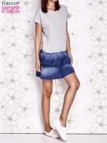 Szara sukienka dresowa z jeansowym dołem                                  zdj.                                  5