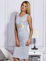 Szara sukienka z ananasami                                  zdj.                                  3
