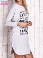 Szara sukienka z napisem NEW YORK CITY                                                                          zdj.                                                                         3