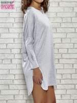 Szara sukienka z rozporkami po bokach                                                                          zdj.                                                                         3