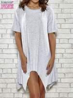 Szara sukienka z wydłużanymi bokami                                  zdj.                                  1