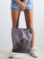 Szara torba materiałowa z kolorowym nadrukiem                                  zdj.                                  3