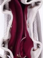 Szara torebka z plecionymi uchwytami i frędzlami                                  zdj.                                  4
