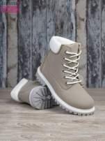 Szare buty trekkingowe damskie traperki ocieplane                                  zdj.                                  4